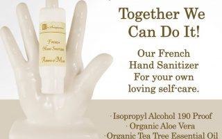 Französisches Händedesinfektionsmittel