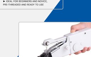 Mini tragbare Handnähmaschine für schnelle Reparaturen