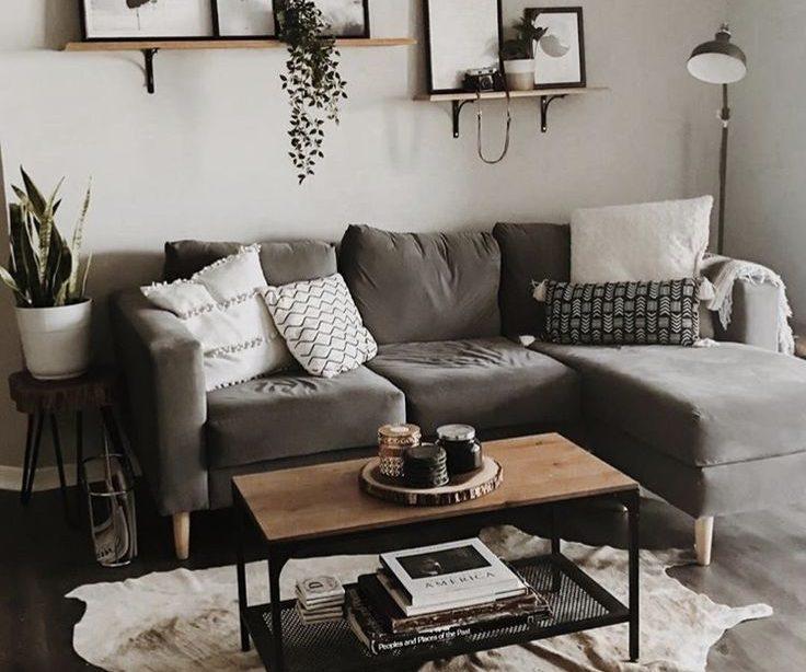 30 stilvolle graue Wohnzimmer Ideen zum Sie anzuspornen # anzuspornen #graue #idee ...