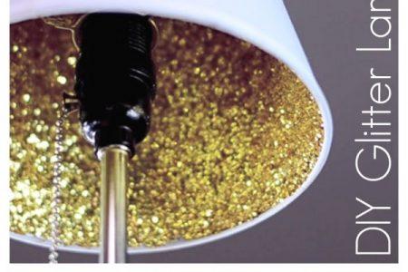 Wie man einen Glitzerlampenschirm macht