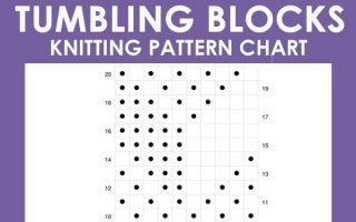 Dieses Tumbling Moss Block Stitch Strickmuster erzeugt eine Illusion mit 3 verschiedenen strukturierten Mustern
