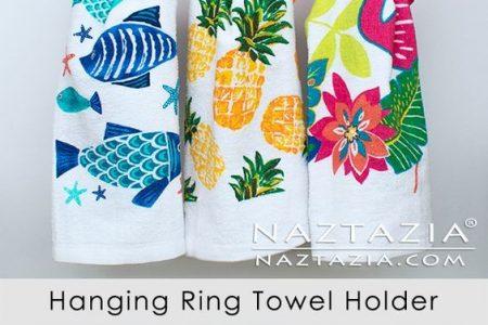 Wie man einen Handtuchhalter mit hängendem Ring häkelt