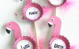 Coole Party Deko selber machen: erkennen Flamingo Party Picker -