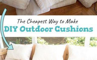 Günstige DIY Outdoor-Kissen - Ein Schmetterlingshaus