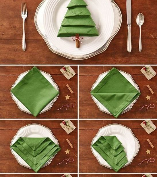 Wie eine Serviette das Schönste auf unsere Weihnachtstisch wird