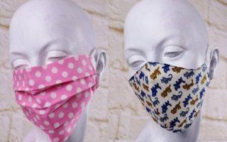 Staub - Mundschutz: zwei halbe für einen bunten Staubschutz für das Gesicht: waschbar und entwickelnig!