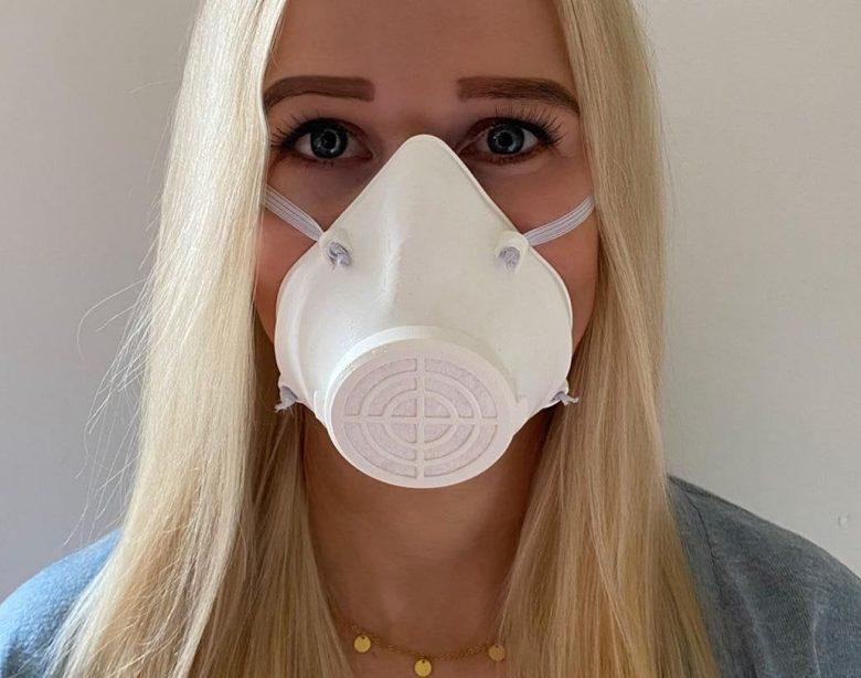 Flexibles Wattepad Behelfs- Alltagsmaske / Mundschutz / Gesichtsmaske / Gesichtsmaske