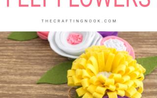 Wie man einfache Filzblumen macht