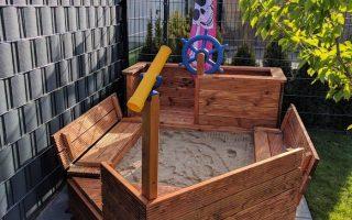 DIY Piratenschiff-Sandkasten