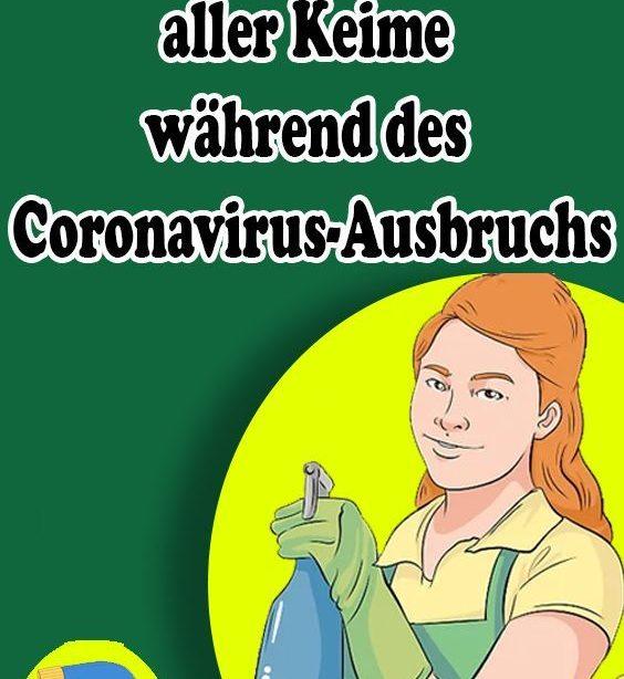 Hauszeuges Desinfektionsspray zur Abtötung aller Keime gehören des Coronavirus-Ausbruchs #hofideen Hausgemachtes Desinfektionsspray zur ...