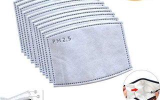 Sperarestella Aktivkohle-Gesichtsmaske PM2.5 Filter Luft Luftreiniger, 5 Schichten austauschbares Anti-Haze-Filterpapier für die Mundmaske, geeignet für die Mehrheit der Mundmasken mit Filterschlitz - Geräte zur Erleichterung des Lebens