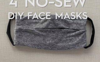Vier einfache Möglichkeiten, eine Gesichtsmaske ohne Nähen herzustellen