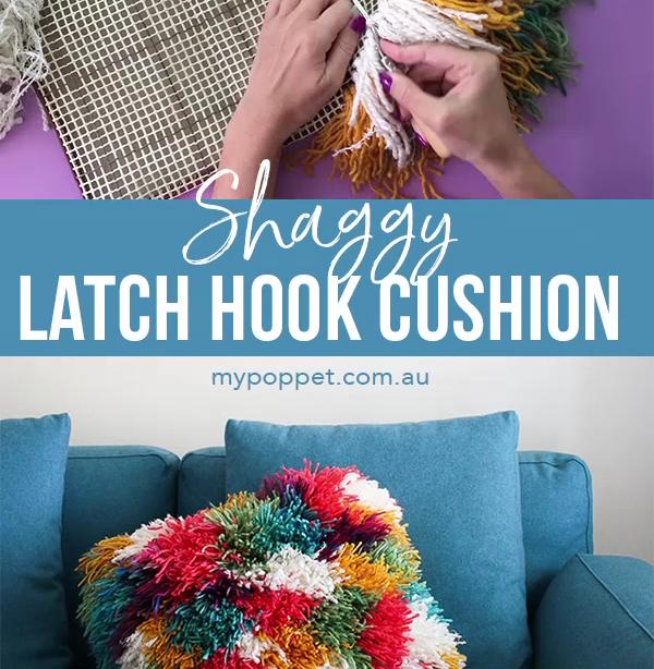 Shaggy Latch Hook Kissenbezug