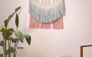DIY eine Makramee Wandbehang!