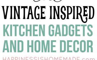 Vintage inspirierte Küche Dekor & Gadgets