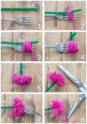 Wie Quaste Blumenkronen machen