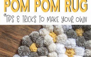 Wie man einen Pom Pom Teppich auf einfache Weise macht - es ist so flauschig!