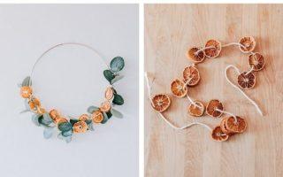 Einfache DIY getrocknete Orangengirlande