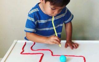 Ping Pong Playdough Straw Maze * Alter 2+ ⋆ Drachenzucht