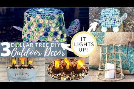 """""""DOLLAR TREE DIY OUTDOOR DECOR"""" - YouTube #decor #diy #diy Gartendekor tun ..."""