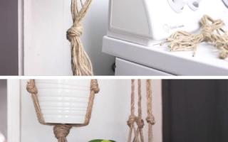 Einfache DIY Plant Hanger Makramee für Anfänger