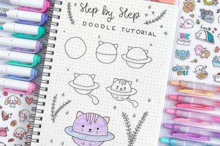 22 Unglaublich einfache Bullet Journal Doodle Tutorials für Anfänger