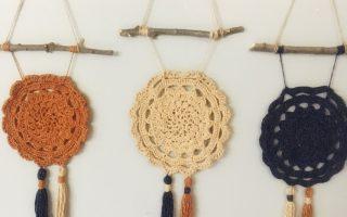 Kostenlose Häkelwand hängen Muster