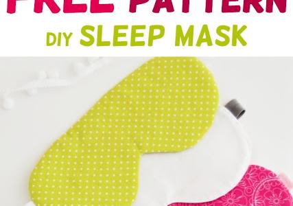 Diy Schlafmaske - Kostenloses Muster - AppleGreen Cottage