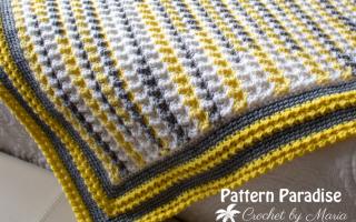 Kostenlose Häkelanleitung: Limonadenwurf | Musterparadies