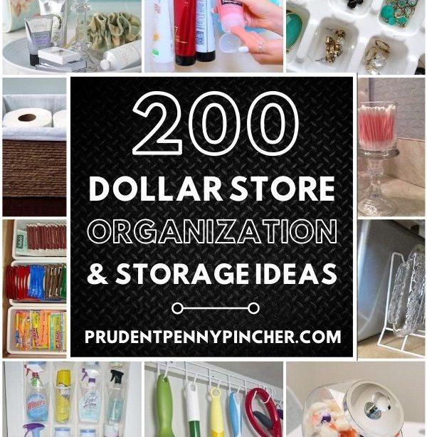 200 DIY Dollar Store Organisationsideen