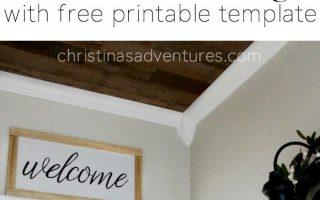 DIY Willkommensschild - Christina Maria Blog