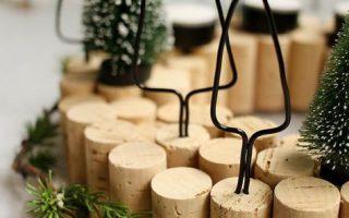 Mach es selbst: Adventskranz mit Korken selbst basteln