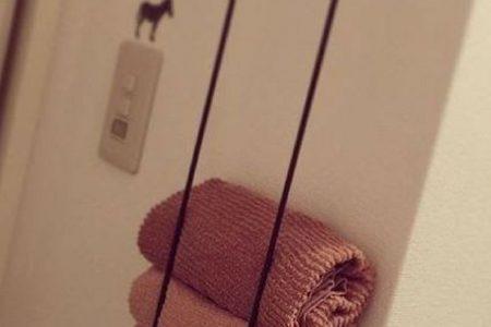 #decorsmallspaces mögliche Sie zwei Handtuchhalter und montieren Sie sie senkre ...