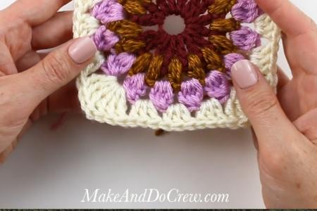 Crochet Sunburst Granny Square - Kostenloses Muster + Tutorial