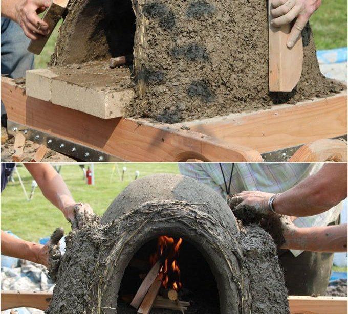 DIY Holzofen Pizzaofen im Freien {Einfacher Erdofen in 2 Tagen!}