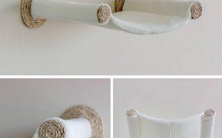 Bequeme an der Wand montierte Katzenhängematte • Hauspanther