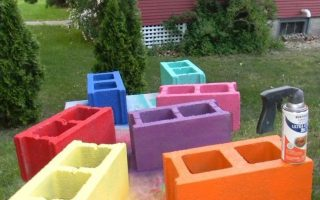 DIY Cinder Block Bank