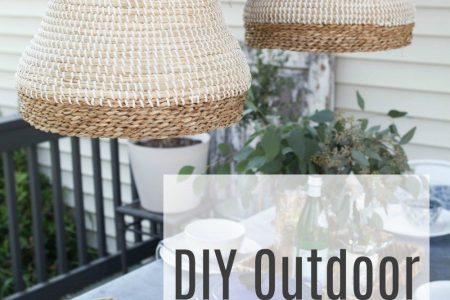 DIY Outdoor Pendelleuchte