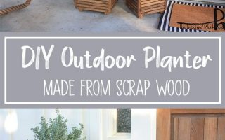 DIY Schrott Holz Outdoor Pflanzer