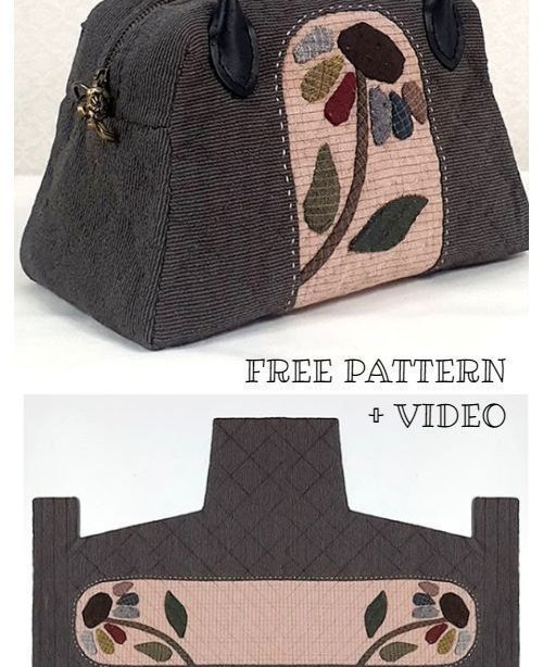 DIY One Piece Stoff Quilt Bag Kostenloses Schnittmuster + Video, #diy # One Piece ...... - DIY One Piece Stoff Quilt Bag Kostenlos Schnit ...