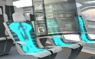 Zukunft des Fluges oder Flug der Phantasie? Die Schüler präsentieren futuristische Konzepte wie biobetriebene Düsentriebwerke, körperwärmebetriebene Kabinenleuchten und von Airhockey inspirierte Gepäcklader