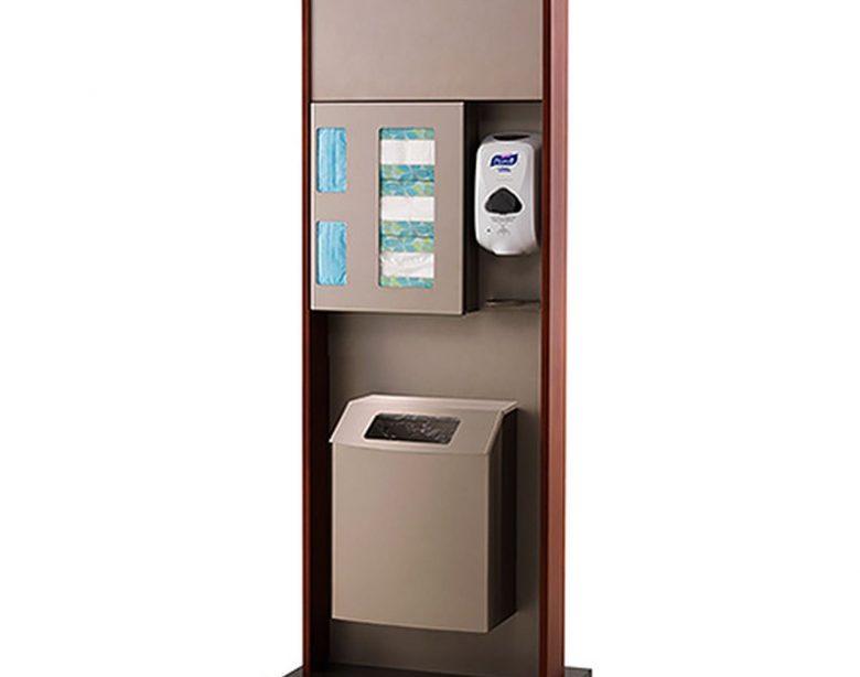 Peter Pepper HealthFIRST Infektionskontrolle - Hygienestation ICF-2T-QS - Schnellversand - freistehend - Mülleimer