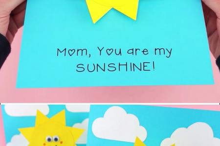 """Wie erstelle ich eine """"Du bist mein Sonnenschein"""" -Karte"""