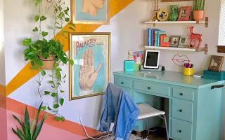 Achtung: Dieses farbenfrohe Home Office kann Ihnen einen Energieschub verleihen Hunker