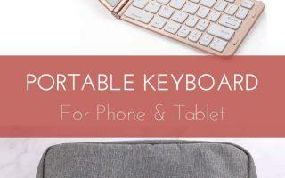 Tragbare Tastatur für Telefon & Tablet - Tolles Tech-Gadget für Sie