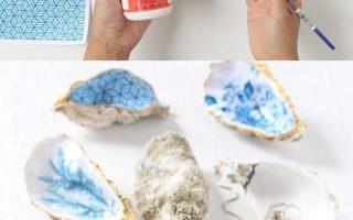 Anthropologie Style DIY Austernschale Trinket Dish