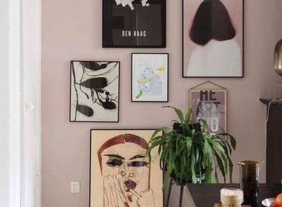 """Diese Sammlung von Gemälden fast in einer """"Treppe"""" wie Muster st ..."""