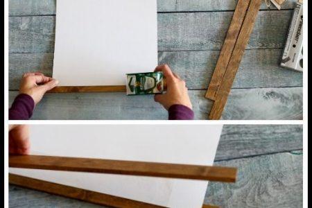 DIY Holzstab hängenden Rahmen - Sugar Bee Crafts