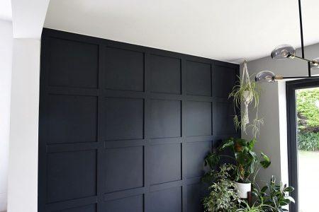 Wie man mit Klebstoff eine Statement-Panel-Wand macht - Von Evija mit Liebe - - # ...