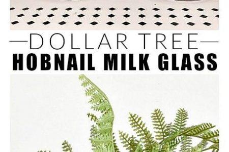 Dollar Store DIY: Wie man Hobnail-Milchglas macht